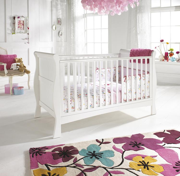 White-elegant-baby-girl-room